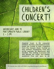 Childrens Concert Poster