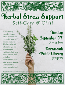 Herbal Stress Support Poster